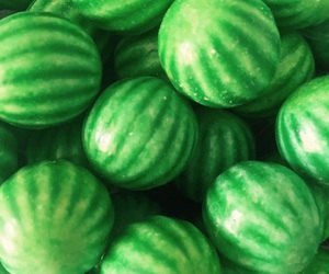 green, watermelon, and chewing gum image