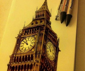 london, Big Ben, and drawing image
