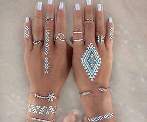nails, tattoo, and summer image