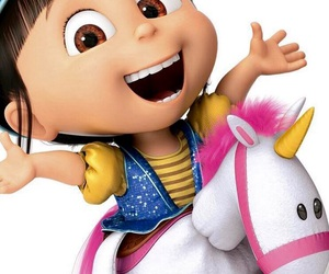 agnes, minions, and unicorn image