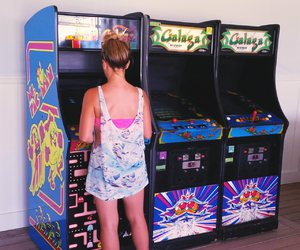 arcade, classic, and girl image