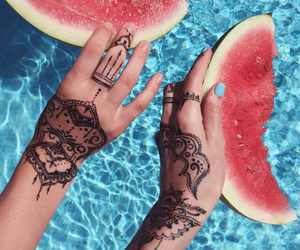 summer, watermelon, and nails image