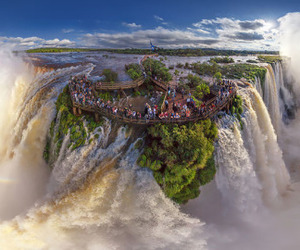 waterfall, nature, and argentina image