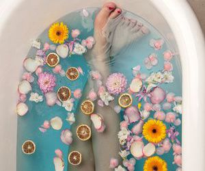flowers, relax, and blue image