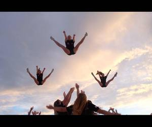 awesome, cheer, and stunts image
