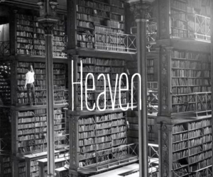 book, heaven, and library image