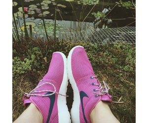 blue, nike, and pink image