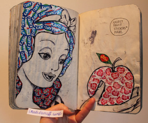 disney, snow white, and wreck this journal image