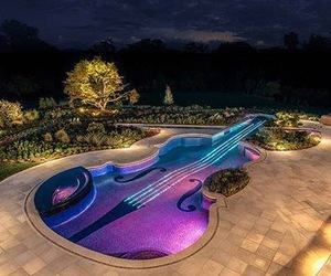 pool, violin, and amazing image