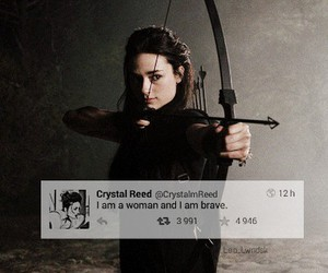 brave, hunter, and woman image