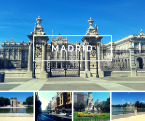 Collage, madrid, and spain image