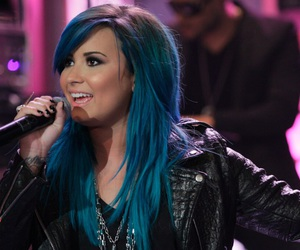 demi lovato, blue hair, and demi image