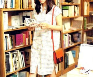 book, 💮, and girl image