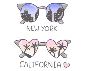 california, new york, and png image