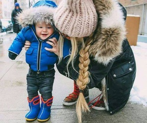 baby, kids, and winter image
