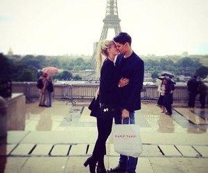 love, paris, and couple image