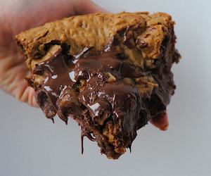 chocolate, pie, and nutella image