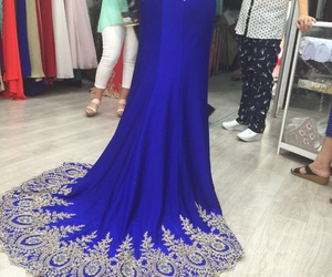 blue, dress, and gown image