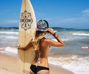 girl and surf image
