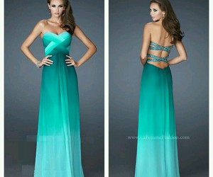 dress, Prom, and turquoise image