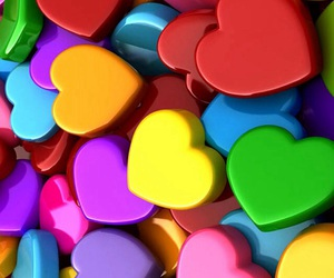 colors, hearts, and pretty image