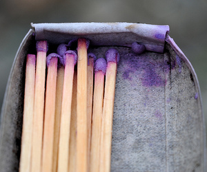 matches and purple image