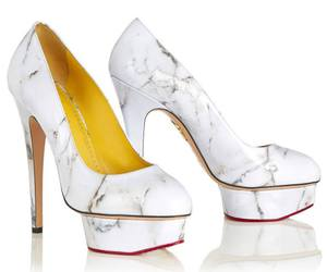 black and white, high heels, and shoes image