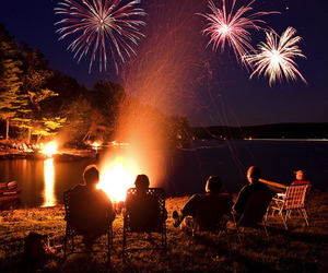 :), camping, and fireworks image