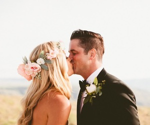 bride, flowers, and rose image