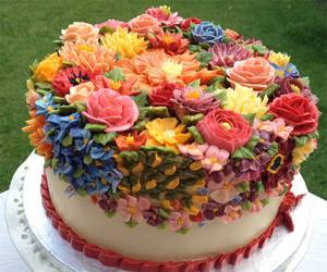 cake, colorful, and decorated image