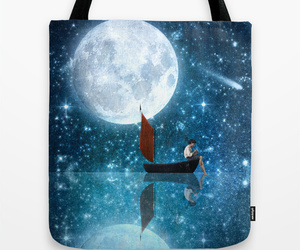 bag, blue, and boat image