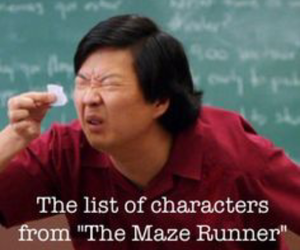book, funny, and maze runner image