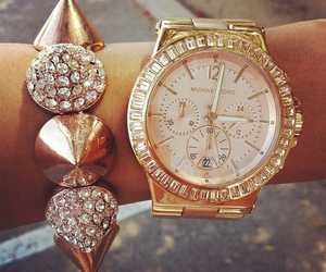 gold, style, and watch image