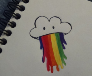 beautiful, clouds, and draw image