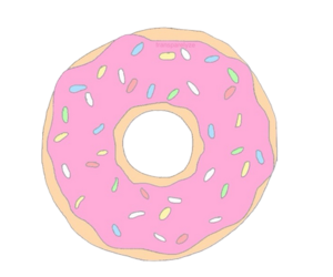 donut, overlay, and pink image