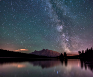astronomy, lake, and nature image