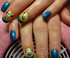 blue, manicure, and funny image