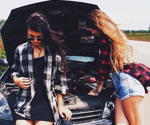 car, girls, and summer image