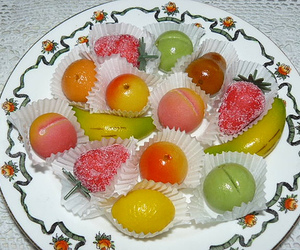 candy, marzipan, and food image