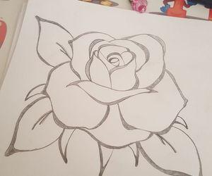 drawing, flower, and inspiration image