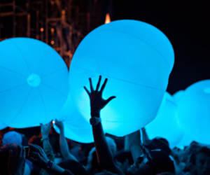 blue, party, and light image
