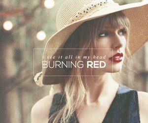 Taylor Swift, red, and quote image