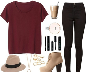 black pants, casual, and simple image