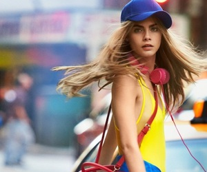 cara delevingne, dkny, and model image