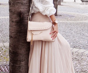 skirt, bag, and shoes image
