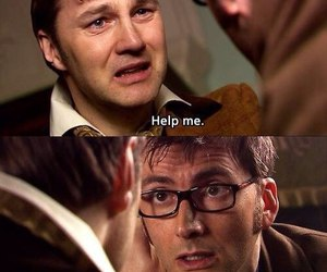 doctor who, david tennant, and help image