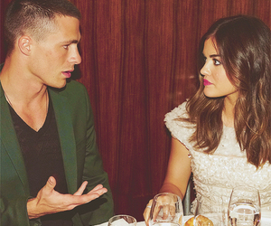 lucy hale, colton haynes, and arrow image