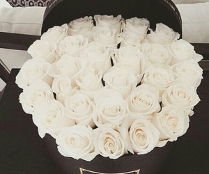 bouquet, rose, and white rose image