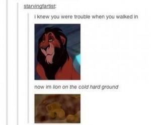 funny, tumblr, and lion king image
