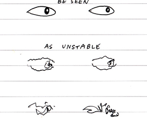 anxiety, eyes, and fragile image